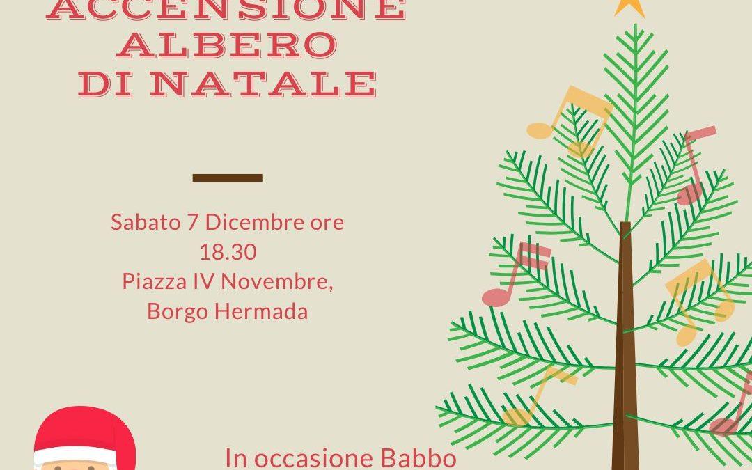 #Pedagnalonga47 Accensione dell'albero di Natale donato dall'associazione Sabato 7 Dicembre